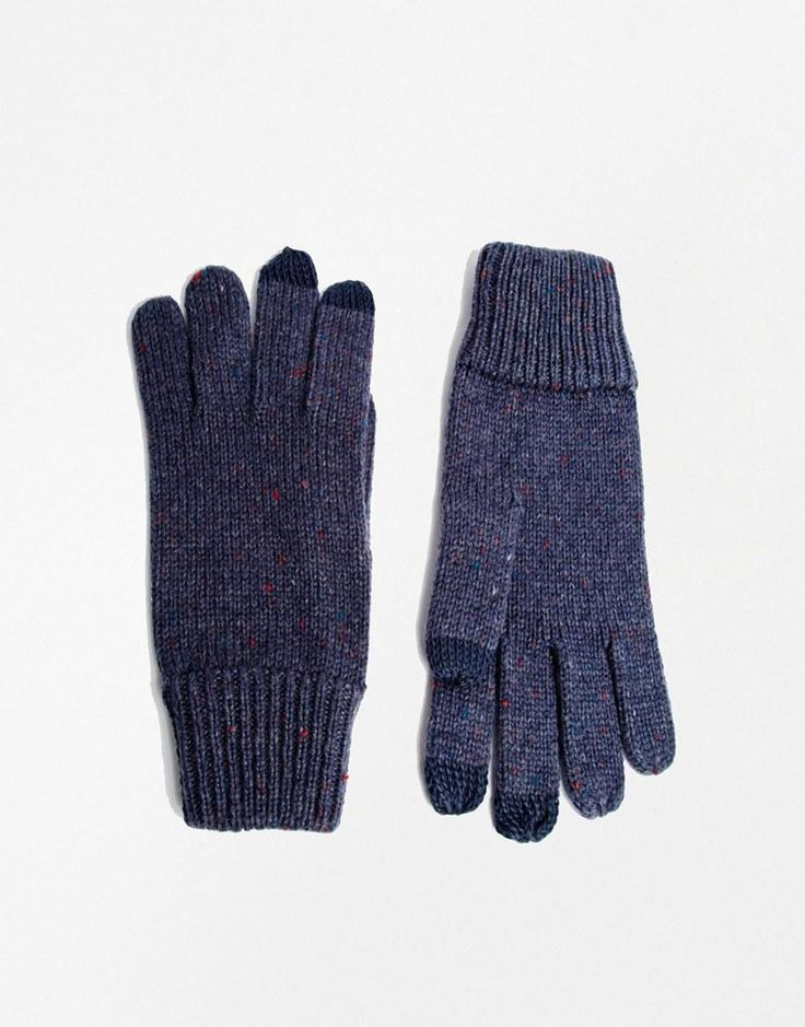 ASOS | ASOS Touch Screen Gloves in Nep Yarn at ASOS