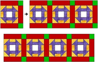 *  Site:  Synthcom  --a step-by-step photo demo on how to get the sashing in your quilt top to come out looking nice and square, with corners meeting up (most of the time) and without any weird stretching or pulling. Tutorial was written for beginning quilters, broken down into the simplest of steps.