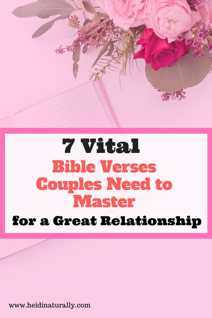 Learn the powerful Bible verses for couples to focus on to inspire, influence, & manage most marriage and relationship issues with ease. via @heidinaturally