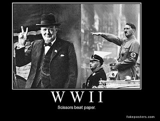 What really ended WWII.Scissors always beats paper.
