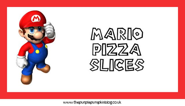 Nintendo Party Food Labels