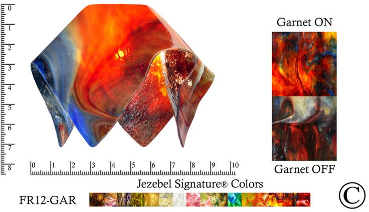 "Jezebel Signature® Small Flame Garnet Glass Pendant Replacement Glass Shade, 1 5/8"" hole"