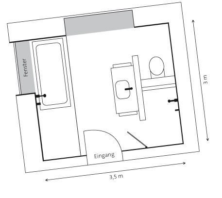 badezimmer 3x3m [hwsc], Badezimmer ideen