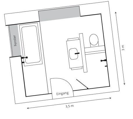 Die 25+ Besten Ideen Zu Bad Grundriss Auf Pinterest | Badezimmer ... Grundriss Badezimmer 12qm