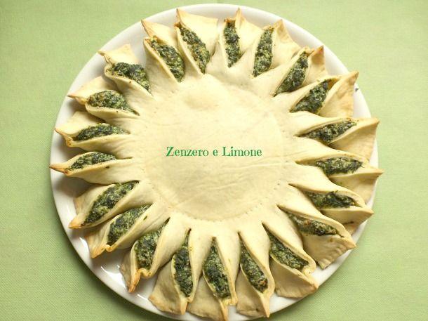 TORTA RUSTICA di SPINACI   Zenzero e Limone