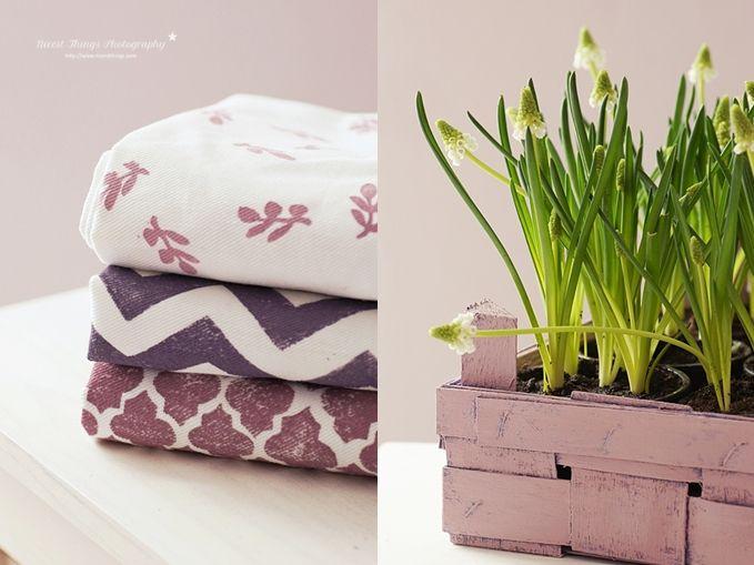 DIY: Stamped Kitchen Towels