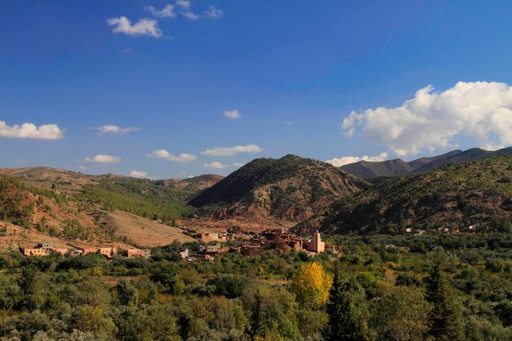 Day trips from #Marrakech | http://www.weather2travel.com/blog/marrakech-day-trips-and-excursions.php | #Morocco #travel | Ourika Valley, just 25 miles from Marrakech