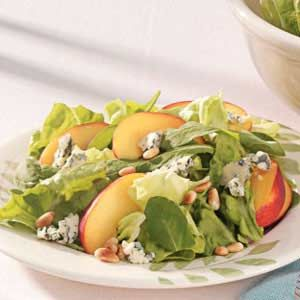 Nectarine Arugula Salad - nice summer salad, but might add some chopped red onion to dressing to balance out sweetness a bit...tasty though