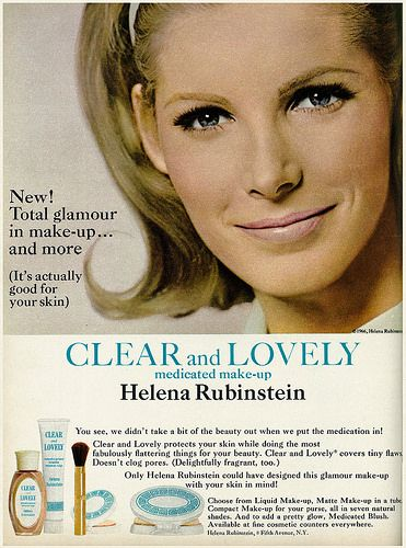 1966 beauty ad helena rubinstein clear lovely medicated. Black Bedroom Furniture Sets. Home Design Ideas