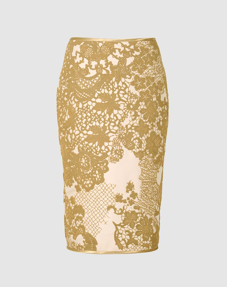 Diana - With its raised, relief-style pattern, recreated based on an original St. Gallen lace design, the flattering wool fabric naturally complements the wearer's shape.  Swiss made