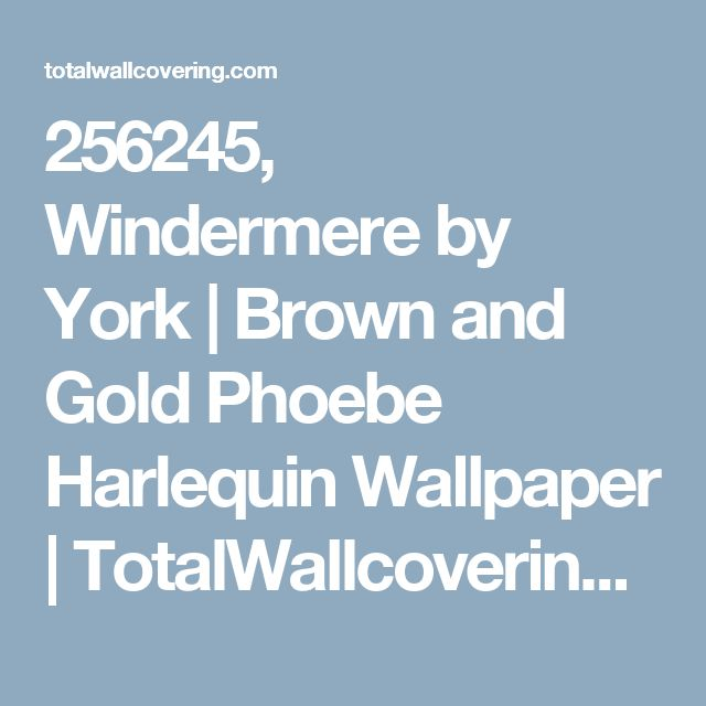 256245, Windermere by York   Brown and Gold Phoebe Harlequin Wallpaper   TotalWallcovering.Com