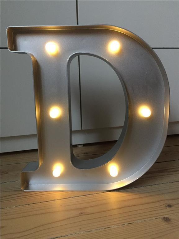 Annons på Tradera: Lysande bokstav D (bokstavslampa,Cirkuslampa,lampa,barnrum)