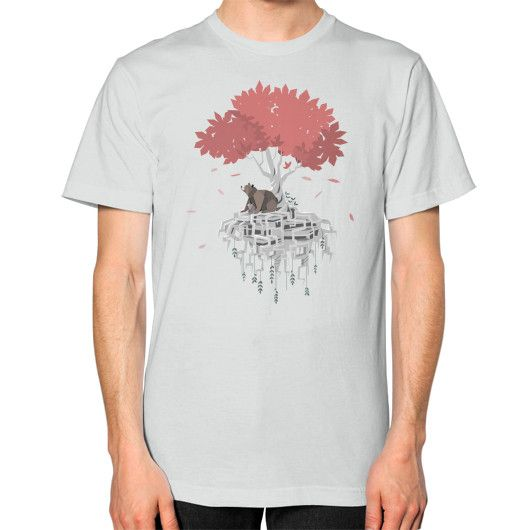 Tree Root Island Unisex T-Shirt (on man)