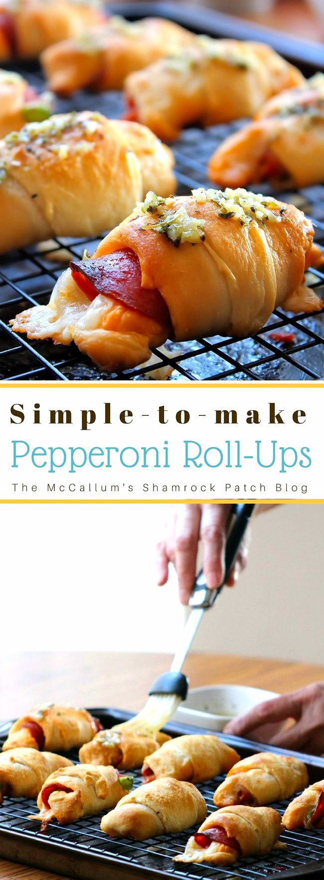 Pepperoni Roll-ups are super simple to make and even better to serve up to your family and friends. You can make them as easy as 1-2-3 for the kids after school as a snack that the entire family will be sure to love time after time. Made with crescent rolls, deli pepperoni, slicedprovolone cheese, your favoritepasta sauce and then baked to perfection in a 400 Degree oven.