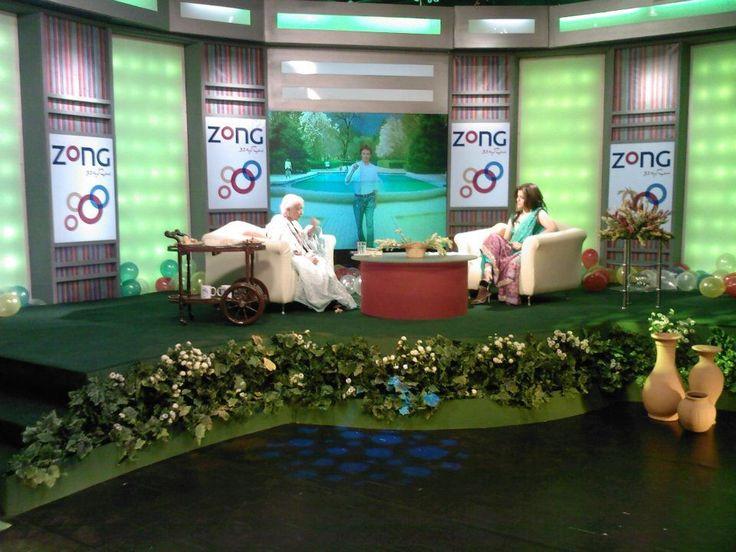 Eid Special Show Aaj TV Set by  Ali Raza