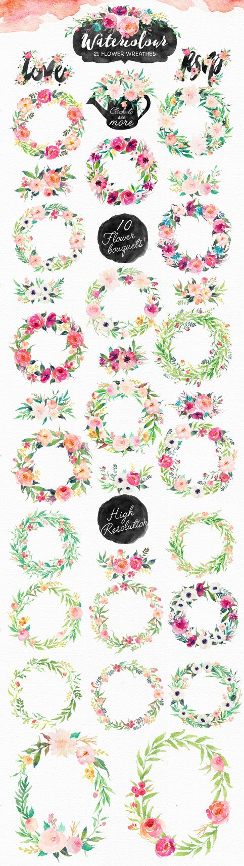 20%Off-Watercolor DIY pack Vol.4/Wedding/Clip art by GraphicSafari