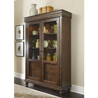 Shop For Rustic Tradition Cherry Display Cabinet Get Free Delivery At Overstock Dining Room