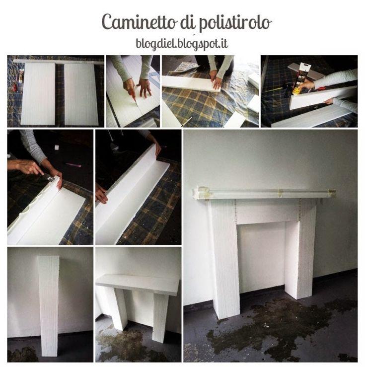 DIY fake fireplace  #fireplace mantel blogdiel.blogspot.it