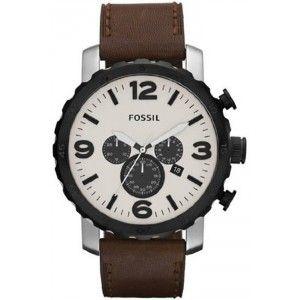 La montre Fossil Nate en cuir marron JR1390  Ce modèle est moins cher sur Chic Time !  Prix conseillé : 149€ Prix Chic Time : 103.90€  <<< Réalisez 45€ d'économies... ... et en plus la livraison est gratuite ! >>>