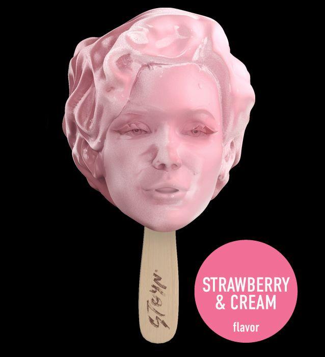 Marilyn Monroe Ice Cream, by Poupoupidou, art.