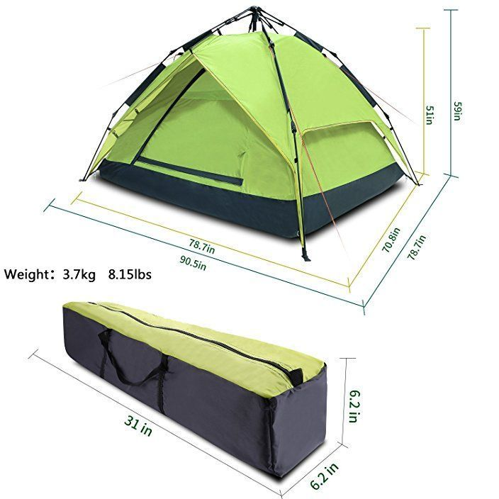 Argus Le Automatic C&ing Tent 2-3 Person 4 Season Waterproof Backpacking Tent With Sun Shelter Instant Setup Family Tents With Portable Carry Bagu2026  sc 1 st  Pinterest & Argus Le Automatic Camping Tent 2-3 Person 4 Season Waterproof ...