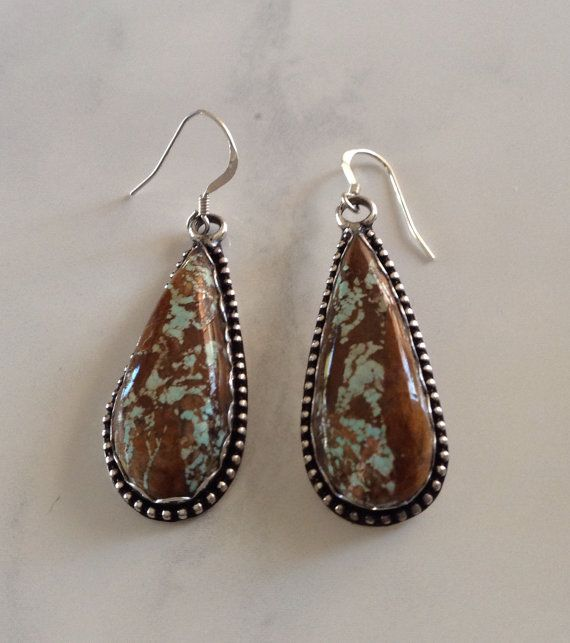 Native american cherokee sterling royston ribbon boulder for Royston ribbon turquoise jewelry
