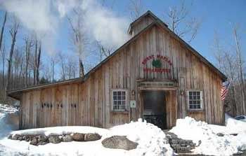 Ben's Sugar Shack, Temple, NH. OR Sweet Maples Sugar House Newbury, NH. Open daily.