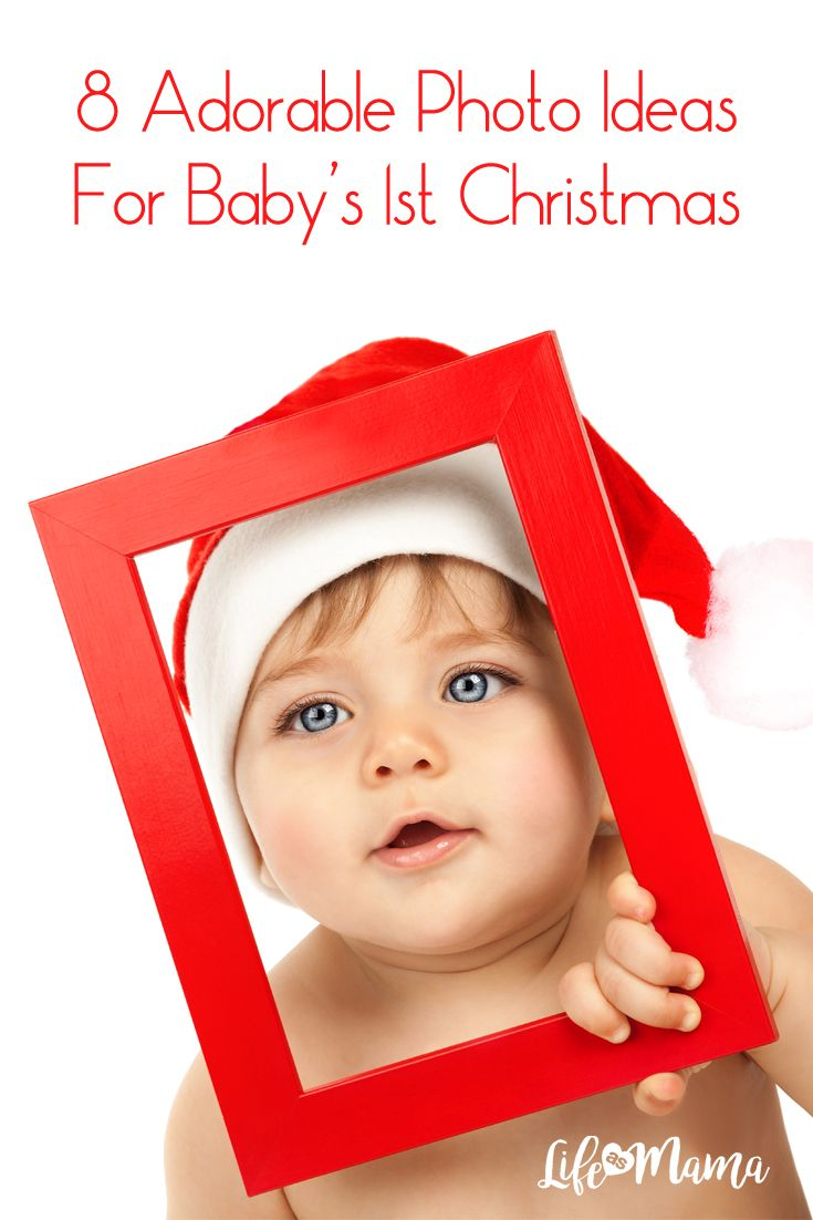 "Christmas will be here before we know it, and if you've got a bundle of joy who will be celebrating for the very first time, a ""baby's 1st Christmas"" photo shoot is a really cute way to capture the holiday. Here are a few ideas that are classic and cute!"