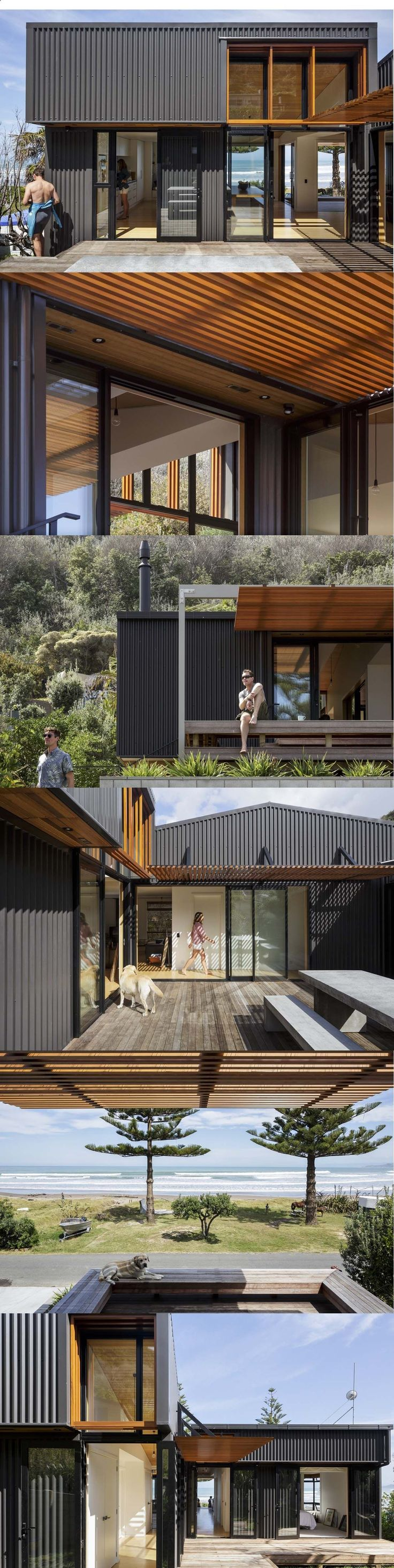 Container house container house interconnecting sheds combine to create beachside family home slightly more