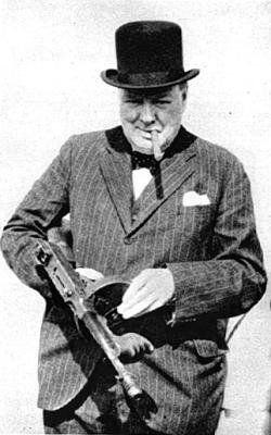 Winston Churchill, man of action.