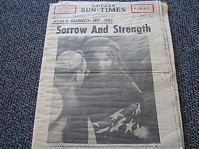 Chicago Sun Times- November 26, 1963- John F Kennedy Sorrow and Strength