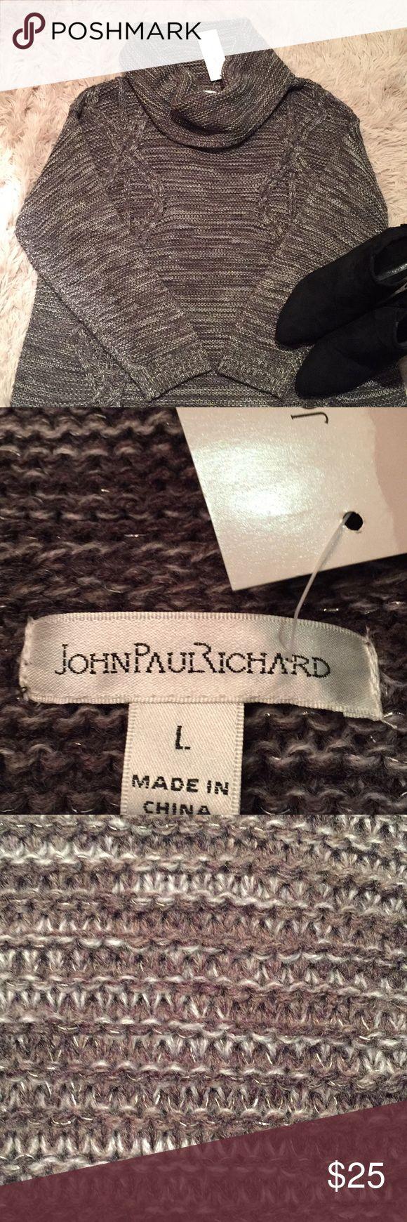 "NWT! John Paul Richard - Olive Cowl Neck Sweater 22"" long John Paul Richard Sweaters Cowl & Turtlenecks"