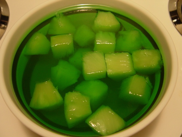 Green jello with Pineapples :) | What's for supper ...