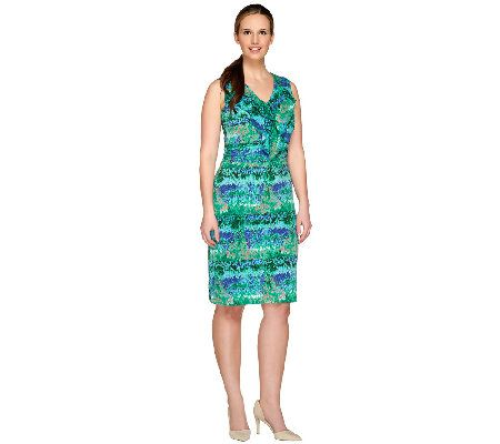 Kelly by Clinton Kelly Sleeveless Dress with Ruffle Detail