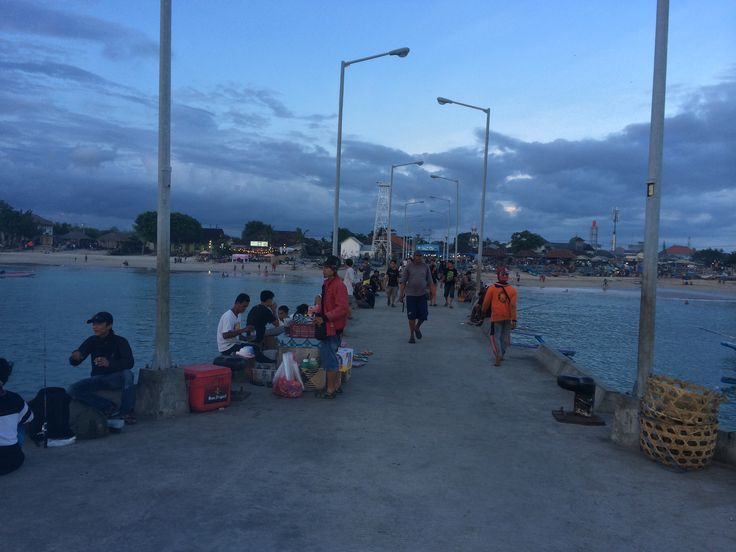 A new pier in front of the fish market on Jimbaran Bay.