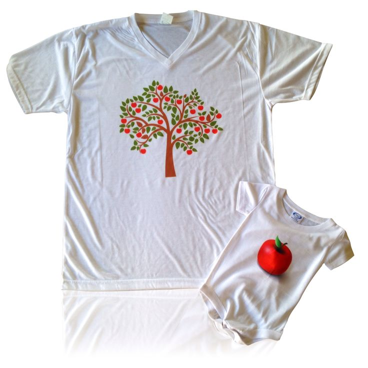 The apple doesn't fall far from the tree shirt and onsie combo  www.personalisethis.com.au
