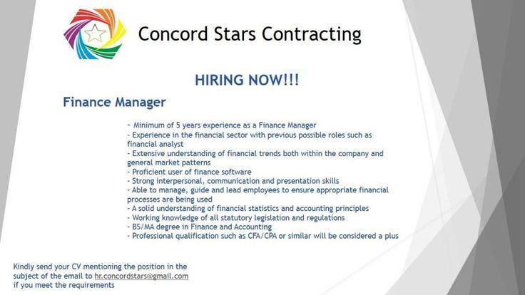 Finance manager uae job openings job opening management