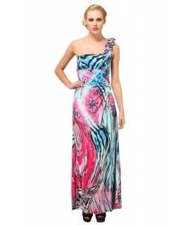 A Suhi Womens Cotton Lycra Multi-Colored Free Size Dress