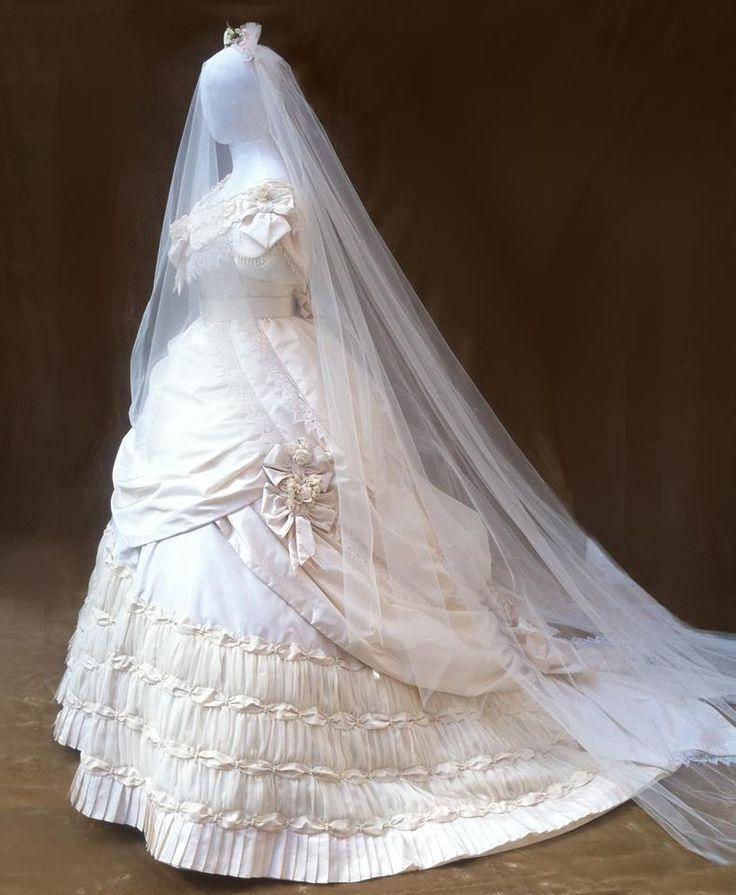 Vintage Wedding Dresses Chicago: 1149 Best Wedding Gowns: 1800s Images On Pinterest