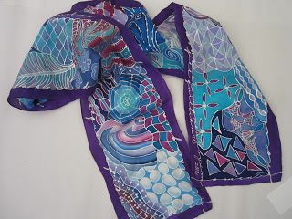 Silks and Art by Jill - text as border and zen tangles in middle