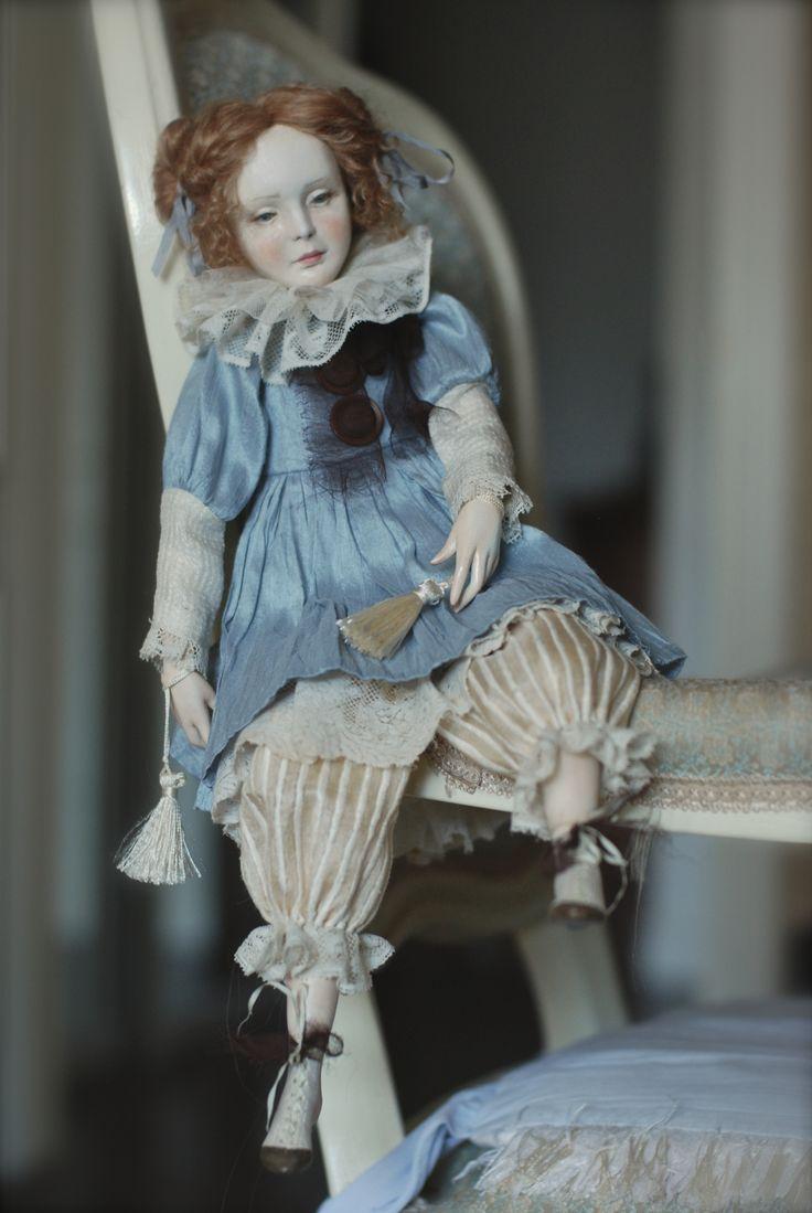 Куклы Ольги Сукач | Девочка в голубом платье