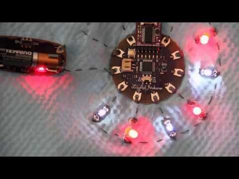 ▶ Lilypad Arduino & Heartbeat from Pulse Sensor - YouTube