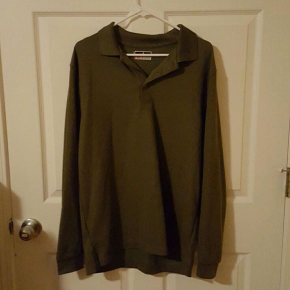 Brown polo style shirt Long sleeve. New without tags. Never worn grand slam performance Tops Blouses