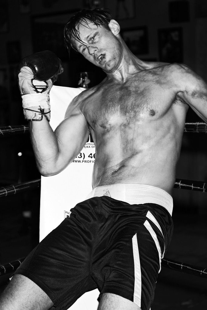 M: Alexander Skarsgård in Knockout at Fortune Gym - Slideshow - WWD.com
