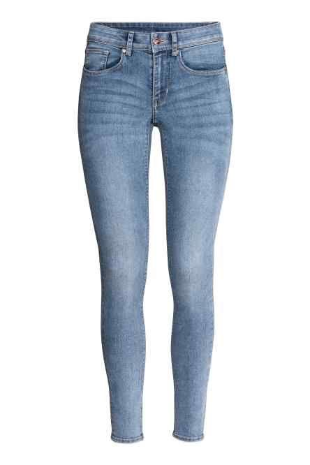 H&M / Divided / Super Skinny Regular Jeans 0412707004 Bawełna 82%; Poliester 16%; Elastan 2%