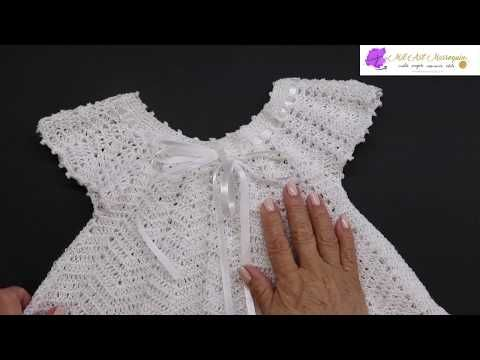 Vestido Crochet Zig Zag para Niña de 6 a 12 meses - YouTube