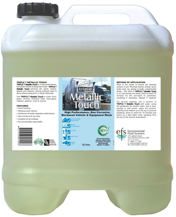 Metallic Touch Vehicle Cleaner 20L