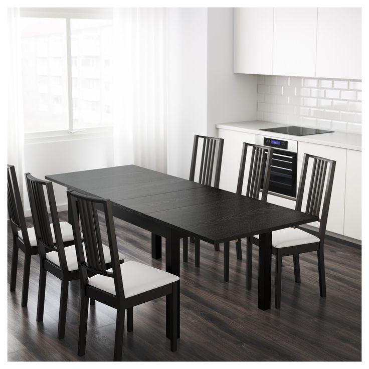 Bjursta Extendable Table Brown Black Bjursta Brownblack Extendable Table Eetkamer Ikea Zwarte Eettafels Eettafel Stoelen