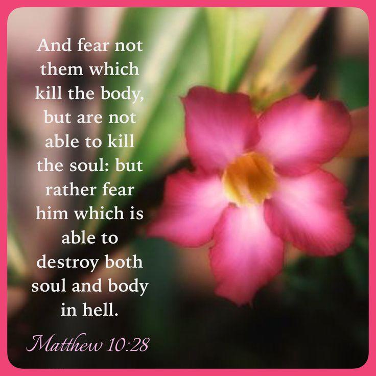 Matthew 10:28 KJV