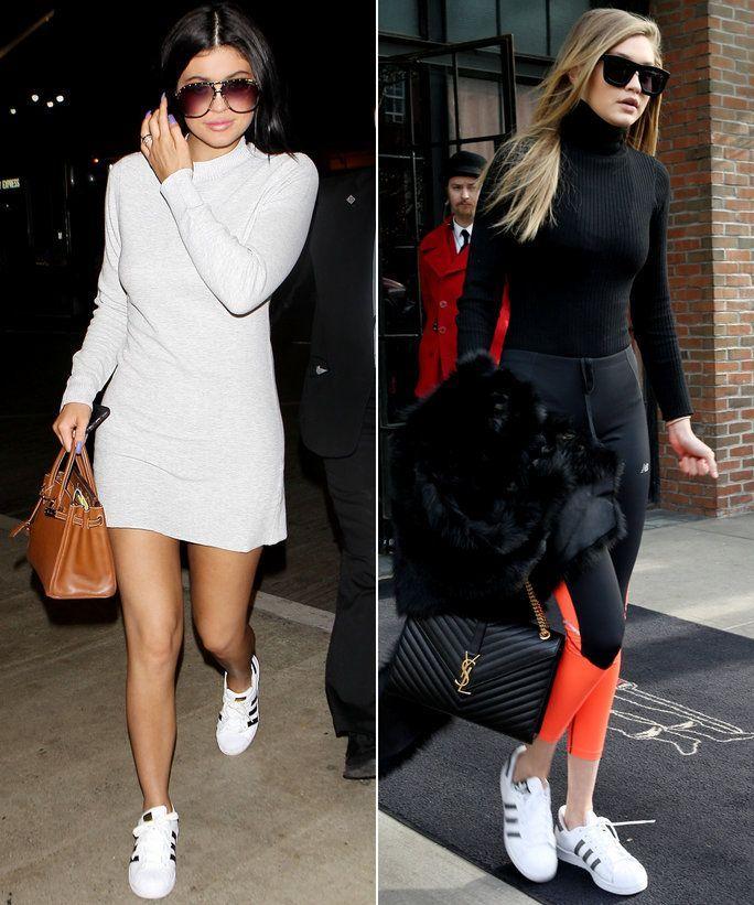 celebrities wearing adidas superstar